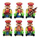 Set of 6 Rajasthani Musicians