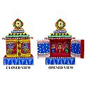 Jagannath, Balaram and Subhadra in a Hand Painted Temple