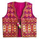 Gujrati Katchi Embroidery on Ladies Koti Jacket