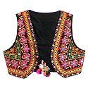 Multicolor Gujrati Embroidery on Sleeveless Ladies Jacket