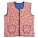 Quilted Red Floral Print Jacket (For Men)