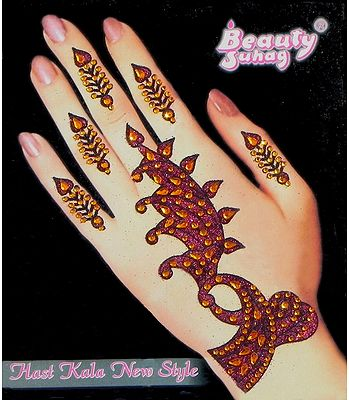 Stick on Mehendi