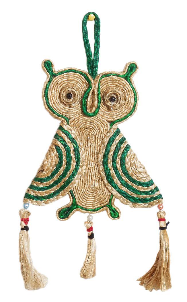 Jute Owl Wall Hanging