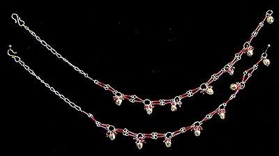 Pair of Metal Anklet with Beads