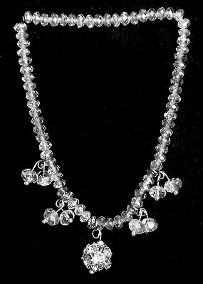 Pair of Crystal Beaded Stretch Anklet