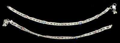 Pair of Metal Braided Anklet