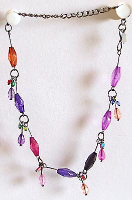 Multicolor Party Anklet for One Foot
