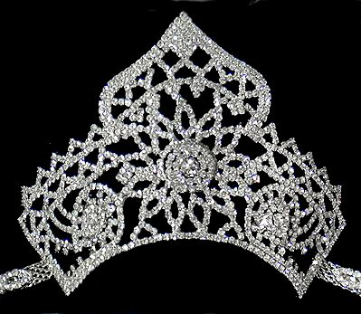 White Stone Studded Silver Polish Crown Bajuband (To wear on upper arm)