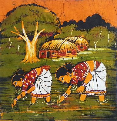Village Women Sowing Paddy