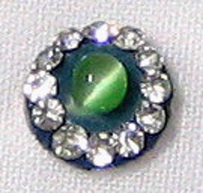 Stone Setting Round Green Bindi