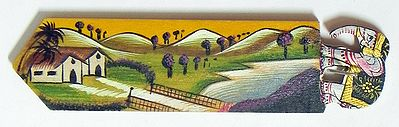 Book Mark with Hand Painted Landscape