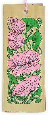 Lotus ( Bookmark) - Patachitra on Palm Leaf