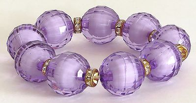 Serenity - Mauve Color  Stretch Bracelet