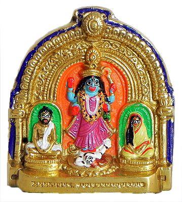 Mother Kali with Ramakrishna Paramahansa and Sarada Ma