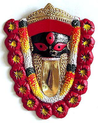 Face Of Kalighat Kali Wall Hanging