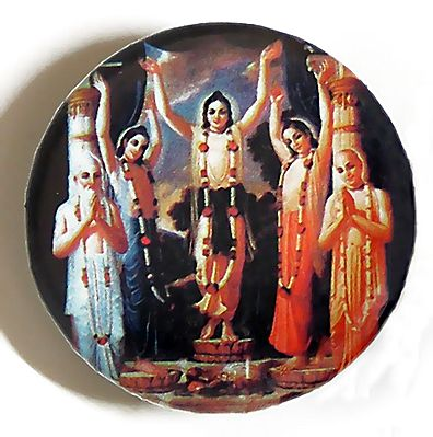 Sri Chaitanyadev and other Disciples of Lord Krishna - (Brooch)