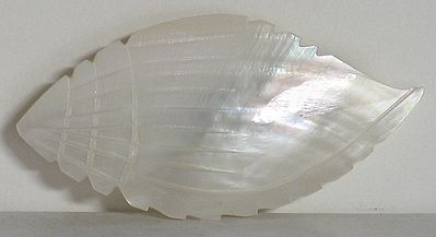 White Conch Shaped Brooch