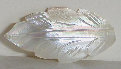 White Leaf Shaped Brooch