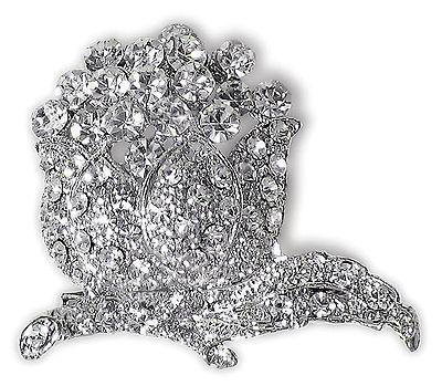 White Stone Studded Designer Brooch