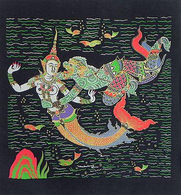 Hanuman with Sovanna Maccha, The Mermaid Princess