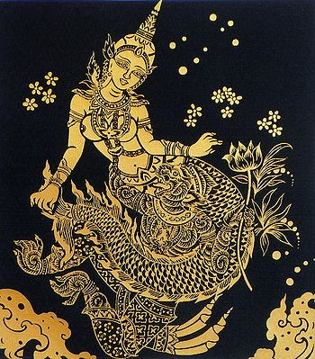 Sovanna Maccha (Mermaid Princess) with Hanuman