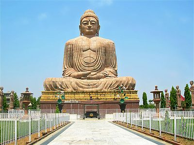 Buddha Statue in Bodhgaya - Bihar, India