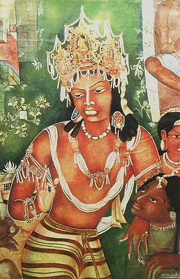Vajrapani (Reprint of Ajanta Cave Painting), India