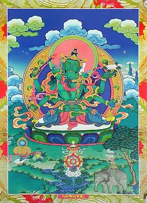Guhyasamaja Akshobhyavajra in Secret Union with His Consort Sparshavajra or Adhiprajna