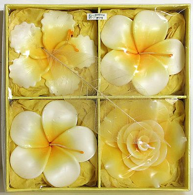 Four Different Design Flower Candles