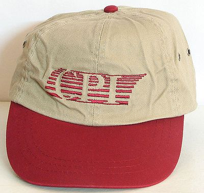 Beige with Red Denim Cap