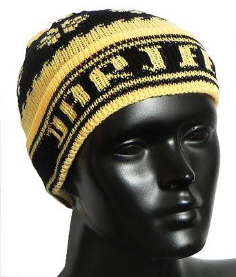 Yellow and Black Ladies Woolen Cap