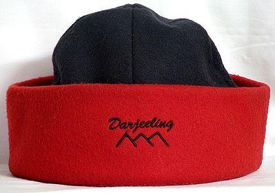 Red and Black Mens Woolen Cap