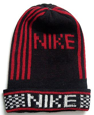 Red and Black Unisex Woolen Cap