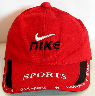 Red Denim Cap