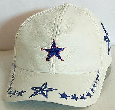 White Leather Cap