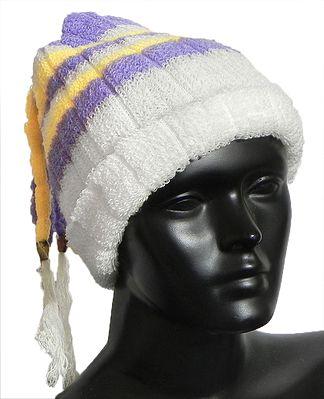 White, Purple and Yellow Ladies Woollen Cap