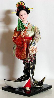 Japanese Lady Holding Umbrella