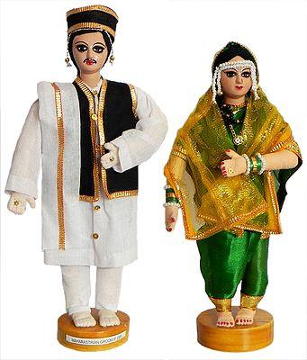 Maharashtrian Bride and Bridegroom