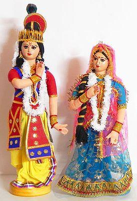 Manipuri Dancers Depicting Radha Krishna