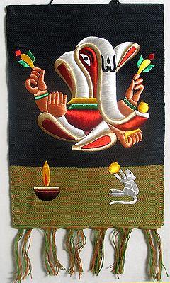 Ganesha made of Silk Thread