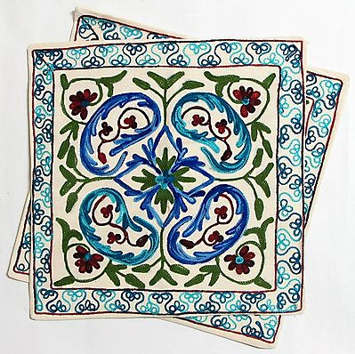 Cushion Covers with Kashmiri Embroidery