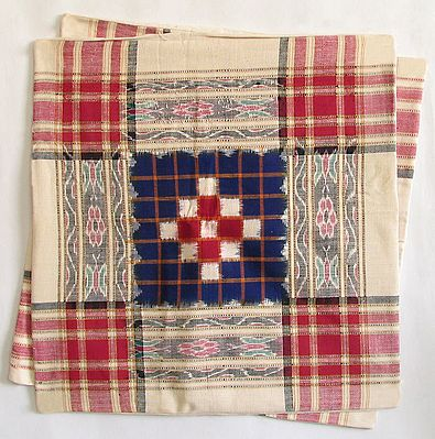 Hand Woven Cushion Covers with Ikkat Design