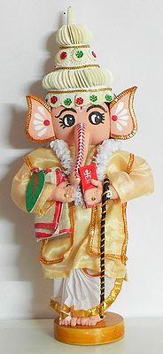 Lord Ganesha as Bengali Bridegroom