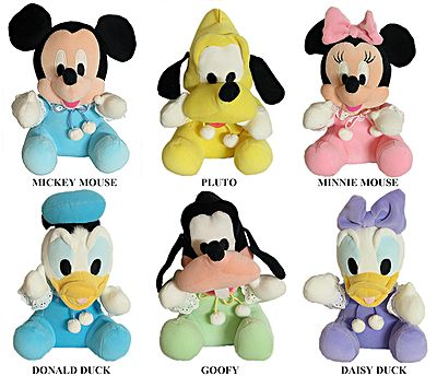 Set of 6 Walt Disney Characters