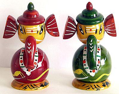 Bridegroom Ganesha - Chennpatna Dolls