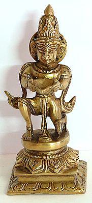 Garuda Holding Oil Lamp