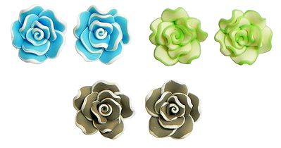 Blue, Green and Brown Rose Tops