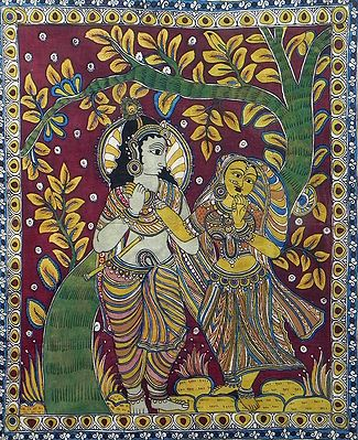 Krishna Adoring Radha