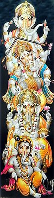 Ganesha in Different Poses