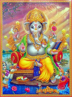 King Ganesha - (Laminated Poster)